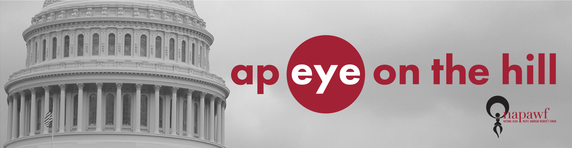 AP Eye on the Hill, logo against a stark, colorless photo of the capitol dome